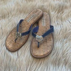 Brighton Blue Patent Leather Sandals size 6.5